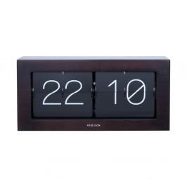 Čierne preklápajúce hodiny Karlsson Flip, 37×17,5 cm