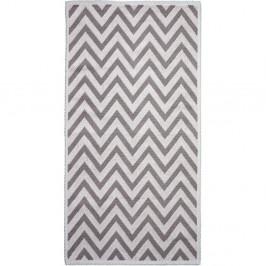 Béžový bavlnený koberec Vitaus Zikzak, 60×90cm