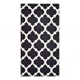 Čierno-biely koberec Vitaus Elisabeth, 50x80cm