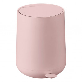 Ružový pedálový odpadkový kôš Zone Nova, 5 l