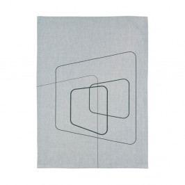 Svetlosivá kuchynská utierka Zone Squares, 70 x 50 cm