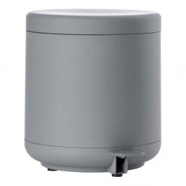 Sivý kúpeľňový odpadkový kôš s pedálom Zone UME, 4 l