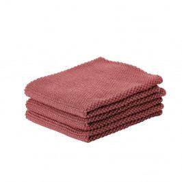 Sada 3 červených bavlnených kuchynských utierok Zone Prado, 27 x 27 cm