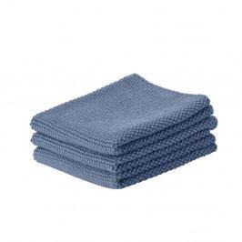 Sada 3 modrých bavlnených kuchynských utierok Zone Prado, 27 x 27 cm
