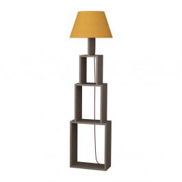 Voľne stojacia lampa so žltým tienidlom Homitis Tower