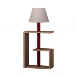 Tmavočervená voľne stojacia lampa Homitis Saly