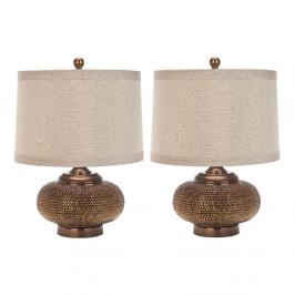 Sada 2 stolných lámp Safavieh Ale× Is Gold
