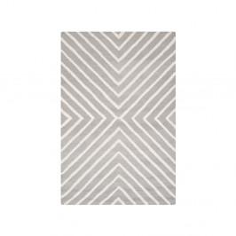 Vlnený koberec Prita, 121×182 cm, sivý