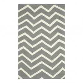Vlnený koberec Edie Light Grey, 91x152 cm
