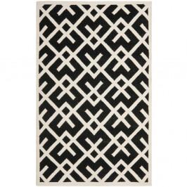 Čierny vlnený koberec Safavieh Marion, 121x182cm