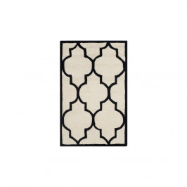 Vlnený koberec Everly 121x182 cm, biely/čierny