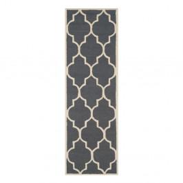 Vlnený koberec Everly 76x243 cm, sivý