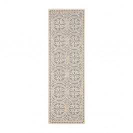 Vlnený koberec Marina Light Grey, 76x243 cm