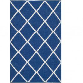 Vlnený koberec Fes 76×243 cm, modrý