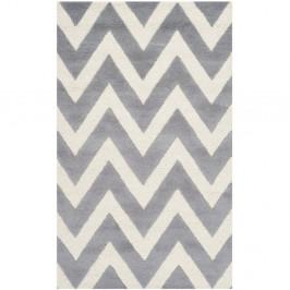 Vlnený koberec Stella Grey, 91×152 cm