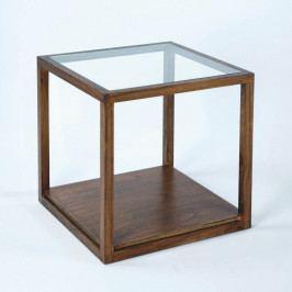 Odkladací stôl z lakovaného dreva Thai Natura Delirium, 60×60 cm