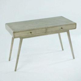 Sivý pracovný stôl z lakovaného dreva borovice Thai Natura Student, 120×76 cm