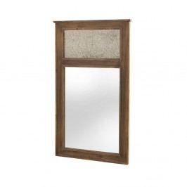 Nástenné zrkadlo v drevenom ráme Geese Fionne, 150×90 cm