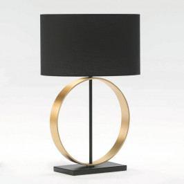 Stolová lampa bez tienidla z kovu zlatej farby Thai Natura Circle