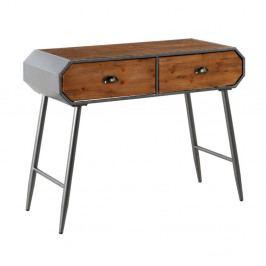 Drevený konzolový stolík s kovovými nohami Geese Duke