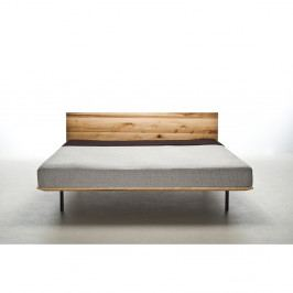 Posteľ z olejovaného jaseňového dreva Mazzivo Modo, 200×200 cm