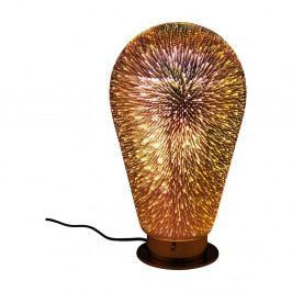Jántárovohnedá stolová lampa Kare Design Firework
