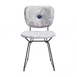 Sivá jedálenská stolička s oceľovou konštrukciou Kare Design Malmö