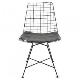 Sada 2 čiernych oceľových jedálenských stoličiek Kare Design Grid