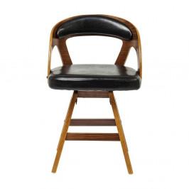 Čierna jedálenská stolička s nožičkami z bukového dreva Kare Design Manhattan