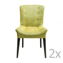 Sada 2 tmavozelených jedálenských stoličiek Kare Design Stay