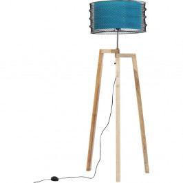 Modrá stojacia lampa Kare Design Wire Tripod