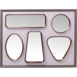 Nástenné zrkadlo Kare Design Art Shapes, 109 × 78 cm