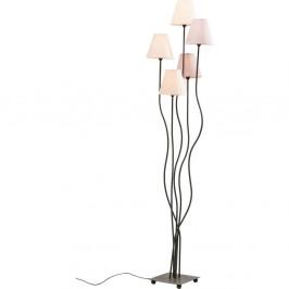Stojacia lampa s fialovými tienidlami Kare Design Cinque