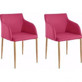 Sada 2 ružových stoličiek Støraa Nimbus