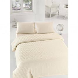 Krémová ľahká prikrývka cez posteľ Burumcuk, 160×235cm
