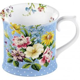 Modrý porcelánový hrnček Creative Tops English Garden, 350 ml