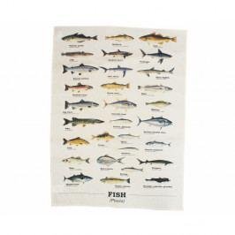 Utierka z bavlny Gift Republic Multi Fish