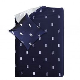 Modré obliečky Hawke&Thorn Finch, 155×220 cm + vankúš 80×80 cm