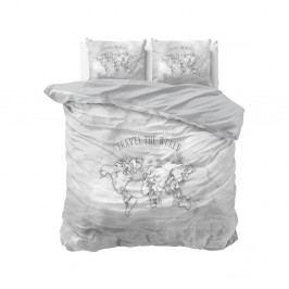 Bavlnené obliečky na dvojlôžko Sleeptime World, 200×220 cm