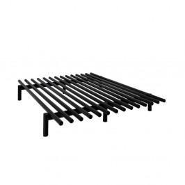 Čierny rám postele z borovicového dreva Karup Design Pace Black, 180 × 200 cm