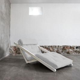Variabilná leňoška Karup Figo White/Light Grey