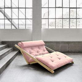 Dvojmiestna variabilná leňoška Karup Figo Raw/Pink Peonie