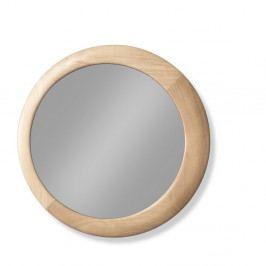 Nástenné zrkadlo s rámom z dubového dreva Wewood - Portugues Joinery Luna, Ø 60 cm