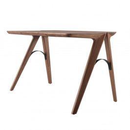 Pracovný stôl z orechového dreva so zásuvkou Wewood - Portugues Joinery Bridge