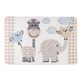 Detský béžový koberec Confetti Animal Kingdom, 100×150cm