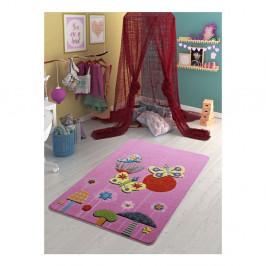 Detský ružový koberec Confetti Butterfly Effect, 100×150 cm