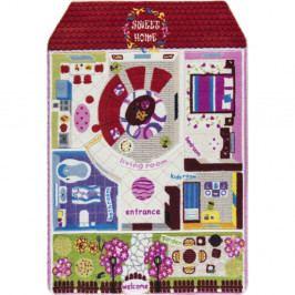 Detský červený koberec Confetti Pretty Home, 133x190cm