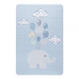 Detský koberec Confetti Sweet Elephant Azul, 133×190 cm