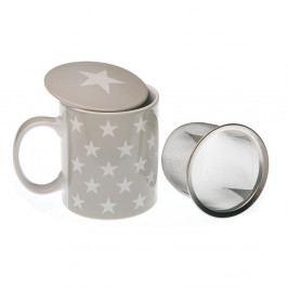 Hrnček na čaj s poklopom a sitkom VERSA Geometrico