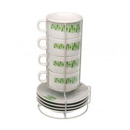 Set stojana a 4 hrnčekov s tanierikmi Versa Cups With Stand